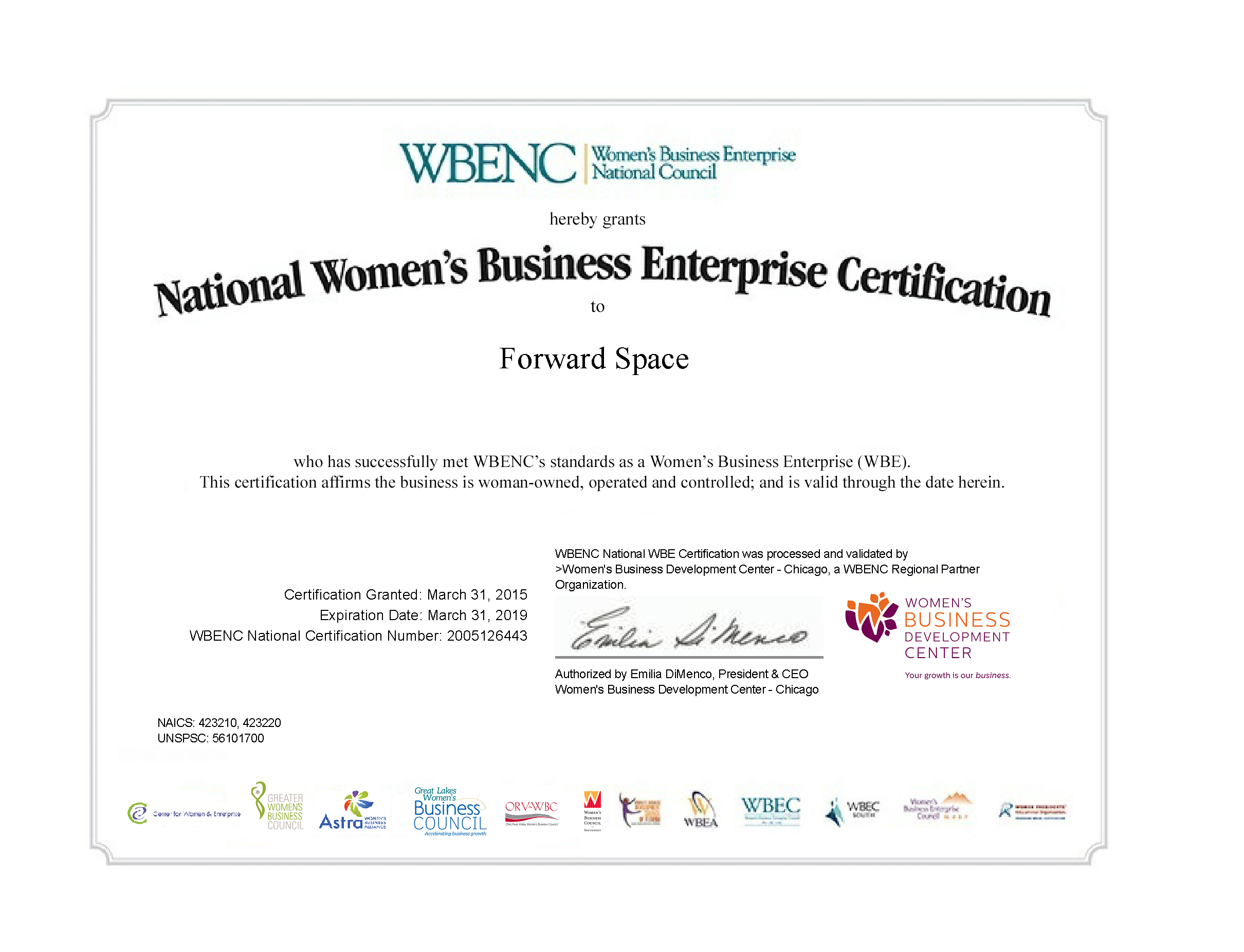 Woman Owned Business Certification Forward Space