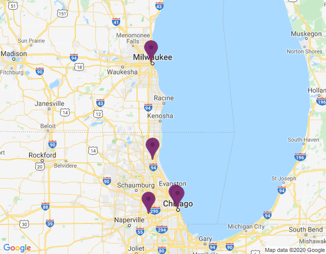 Map of Chicago Showroom